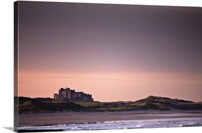 Castle At Dusk, Northumberland, England