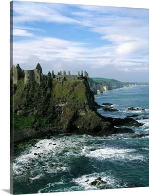 Castle At The Seaside, Dunluce Castle, County Antrim, Northern Ireland