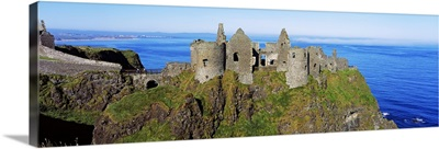 Castle On A Cliff, Dunluce Castle, County Antrim, Northern Ireland