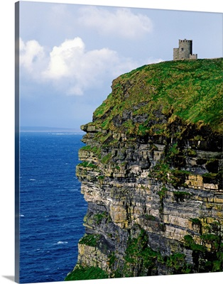 Castle On A Cliff, O'Brien's Tower, Cliffs Of Moher, County Clare, Republic Of Ireland