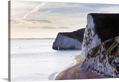Chalk Cliffs Of Bat's Head, Jurassic Coast World Heritage Site, Dorset, England