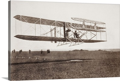 Charles Rolls Taking Off For Non Stop Double Crossing Of The English Channel