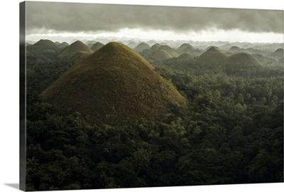 Chocolate hills landscape from Bohol Island, Carmen, Bohol Island, Philippines