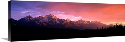 Chugach Mountains At Sunset Near Matanuska Glacier, Southcentral, Alaska