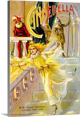 Cinderella, Cover Of Children\'s Book Wall Art, Canvas Prints, Framed ...