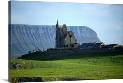Classiebawn Castle With Ben Bulben In The Distance, Mullaghmore, County Sligo, Ireland