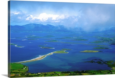 Clew Bay, Co Mayo, Ireland, View Of A Bay From Croagh Patrick