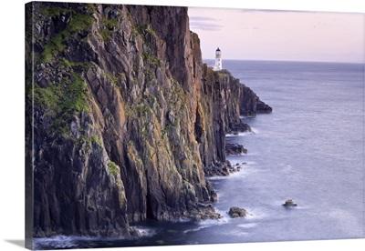 Cliffs On Shoreline, Neist Point, Isle Of Skye, Scotland