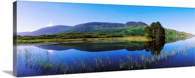 Clonee Loughs, Co Kerry, Ireland, Lake With Land In The Distance