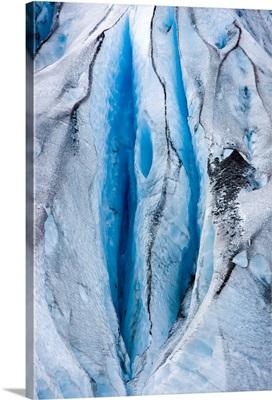Close up detail of Shoup Glacier, Shoup Bay State Marine Park, Valdez, Southcentral