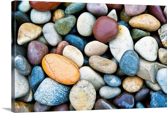 Close Up of multi colored stones