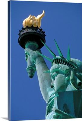 Close-Up Of Statue Of Liberty, Manhattan, New York City, New York, USA