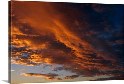 Cloud Patterns at Sunset SC Alaska