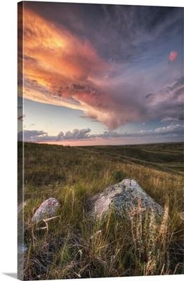 Clouds At Sunset, Grasslands National Park, Saskatchewan, Canada