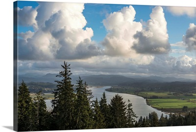 Clouds drift over Youngs Bay, Astoria, Oregon, United States of America