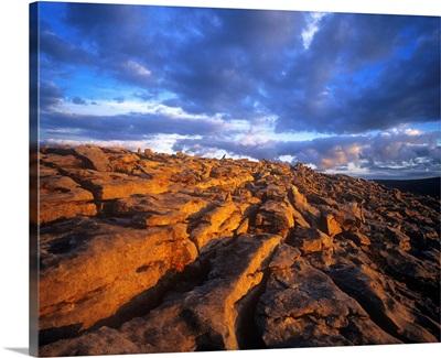 Cloudscape Over A Landscape, The Burren, County Clare, Ireland
