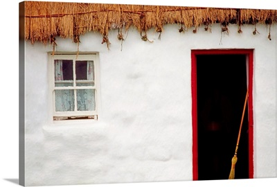 Co Galway, Ireland; Detail Of A Cottage