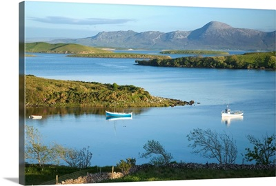 Co Mayo, Ireland; Evening View Across Clew Bay To Croagh Patrick