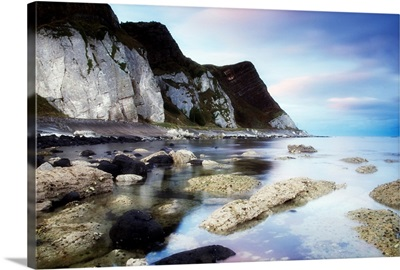 Coast Between Carnlough And Waterfoot, Co Antrim, Ireland