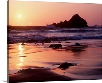 Coastline At Sunset, California, USA