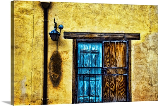 Colorful Wooden Doorway And Wall, New Mexico Wall Art, Canvas Prints ...