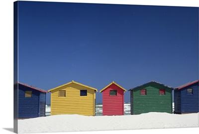 Colourful Beach Huts In Cape Town