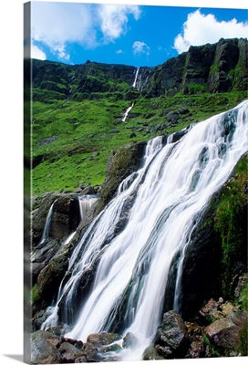 Comeragh Mountains, County Waterford, Ireland; Mountain Waterfall