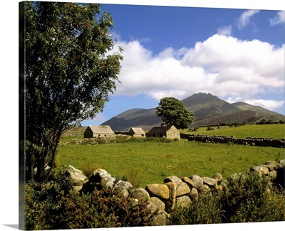 Cottages On A Farm Near The Mourne Mountains, County Down, Ireland