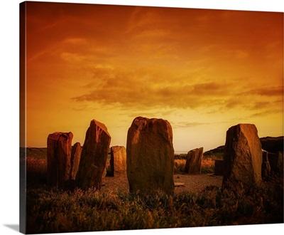 County Cork, Ireland, Drombeg Stone Circle Near Glandore