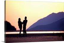 Couple at Sunset Turnagain Arm SC AK