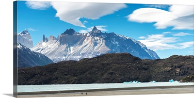 Cuernos del Paine from Lake Pehoe, Torres del Paine National Park, Chile