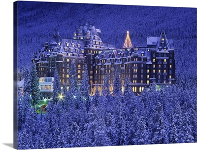 D.Wiggett, Banff Springs Hotel In Winter At Twilight, Banff National Park, Canada