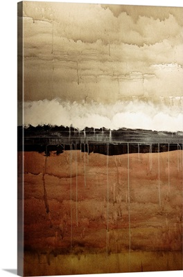 Dawn, Abstract Painting In Brown And White (Acrylic Painting)