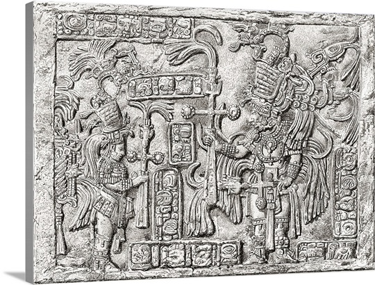 Decorative Lintel from the ancient Mayan city of Yaxchilan, Chiapas ...