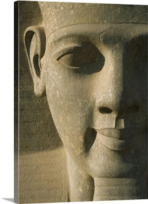 Detail Of Pharaoh Head; Luxor Temple, Egypt