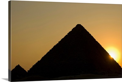 Detail Of The Pyramids At Dusk
