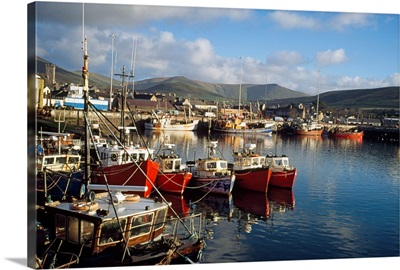 Dingle, Co Kerry, Ireland; Boats In A Port