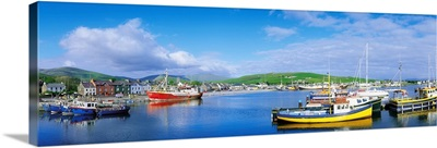 Dingle, Dingle Peninsula, Co Kerry, Ireland, Fishing Boast In A Harbour