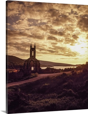 Disused White Marble Church, Lough Na Kung Dunlewy, Co Donegal, Ireland