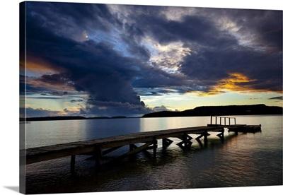 Dock And Clouds At Sunset, Vava'u, Kingdom Of Tonga