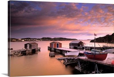 Dock At Sunset, Durrell, Newfoundland