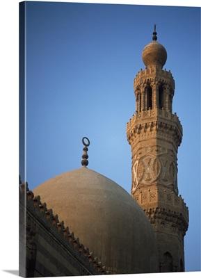 Dome And Minaret Of Mosque Of Barquq; Cairo, Egypt