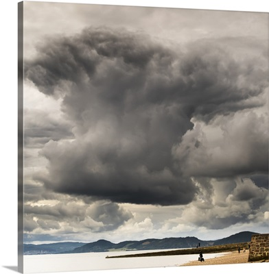 Dramatic cloud formation over the coastline, Chanonry Point; Inverness, Scotland