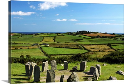 Drombeg Stone Circle Near Glandore In West Cork, County Cork, Ireland