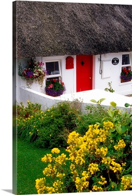 Dunmore East Harbour, County Waterford, Ireland; Thatched Cottage