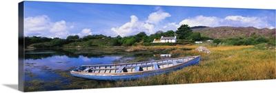 Ellen's Rock, Glengarriff, Co Cork, Ireland, Rowboat On The Shore