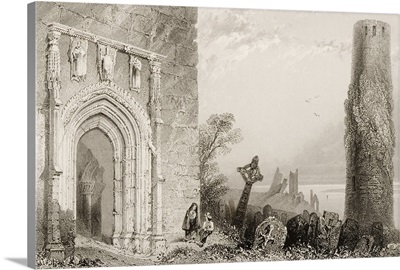 Entrance Doorway To The Temple Mcdermot, Clonmacnoise, Ireland