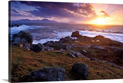 Evening At Breasty Bay Near Malin Head, County Donegal, Ireland