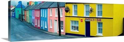 Eyeries Village In The Rain, County Cork, Ireland