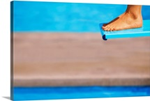 Feet On A Diving Board